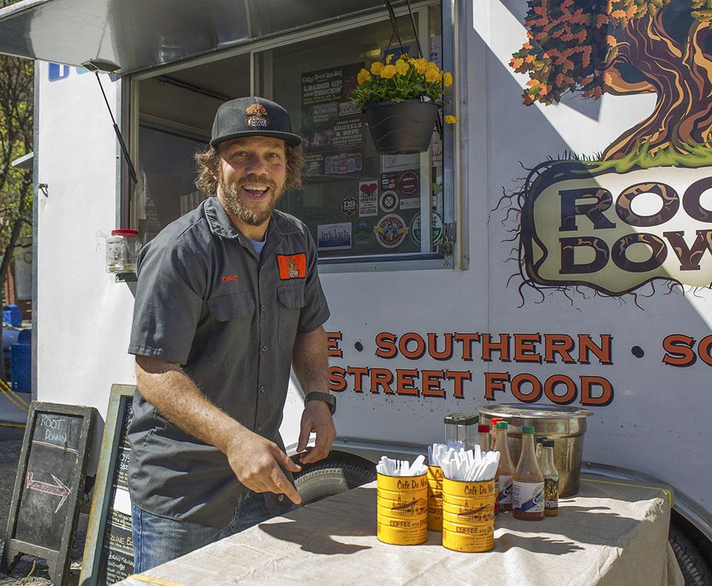 Dano Holcomb, Root Down Food Cart. Photo by Micah Mackenzie