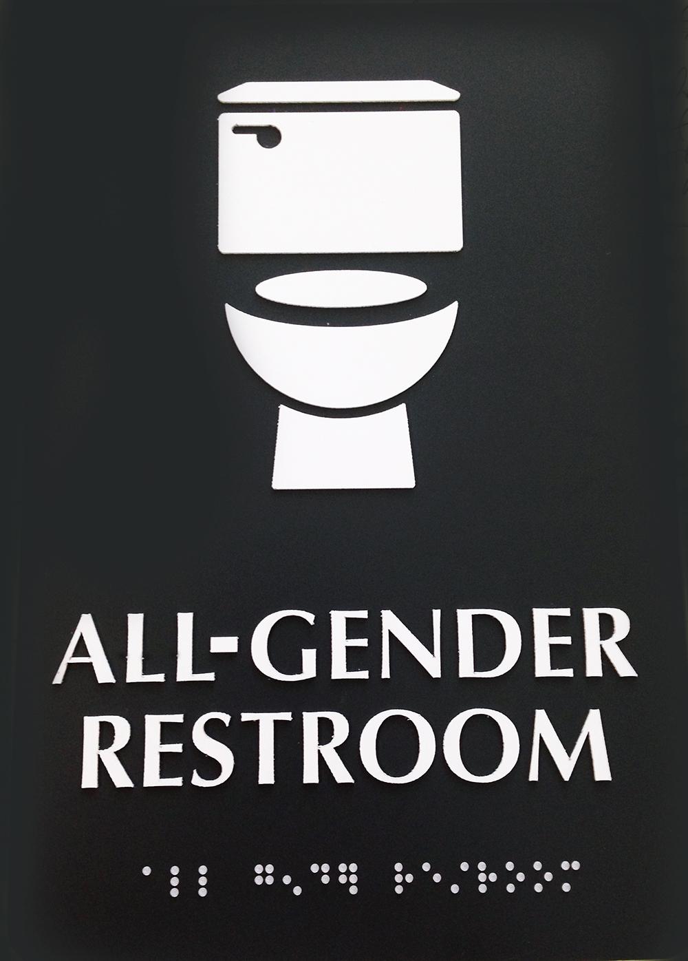 All gender bathroom signs the laurel of asheville for Against gender neutral bathrooms