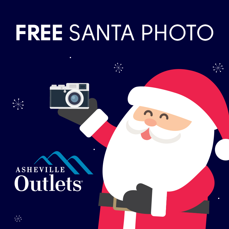 free santa photos are back from november 18 through december 24 every family who visits with santa claus at asheville outlets - Free Santa Claus Pictures