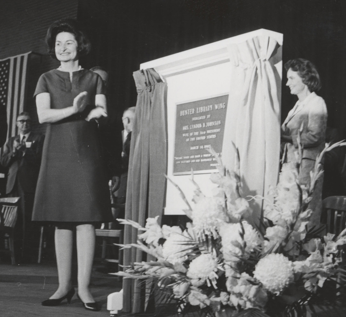 Lady Bird Johnson's Visit