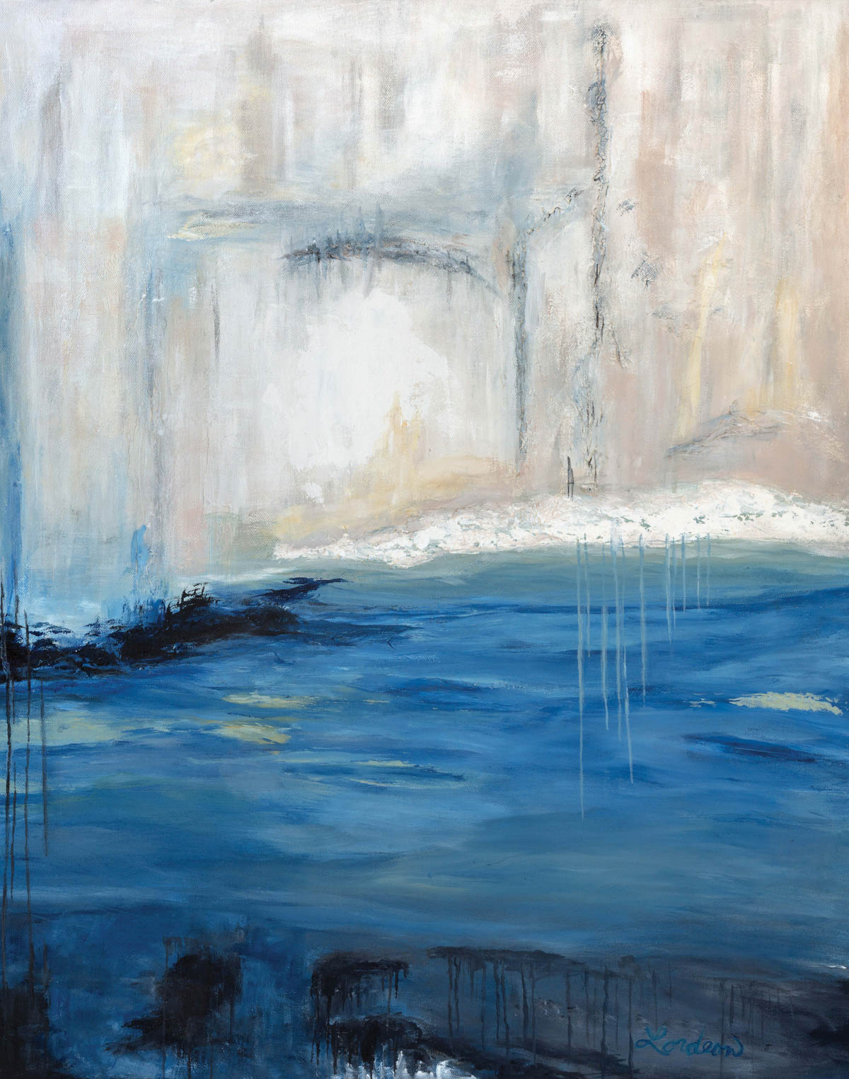 Abstract in Blue lll. Sally Lordeon, artist