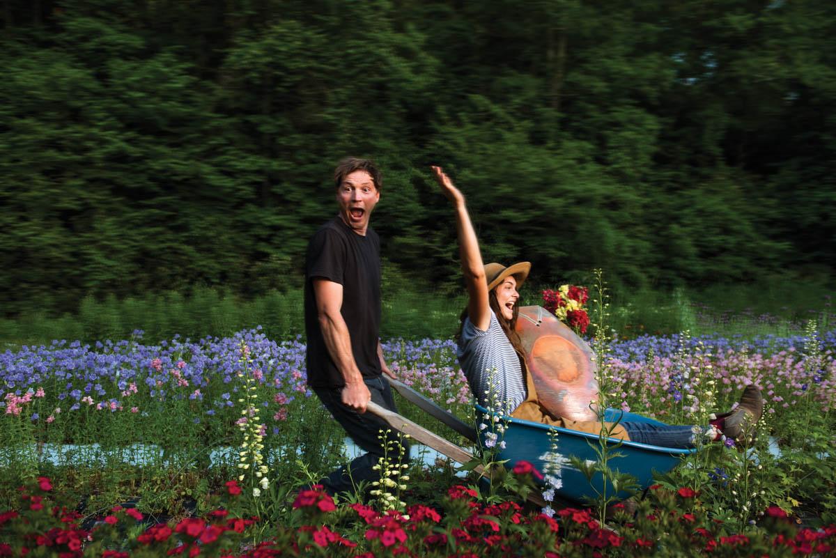 Josh and Emily Copus of Carolina Flowers. Photo by Jack Sorokin
