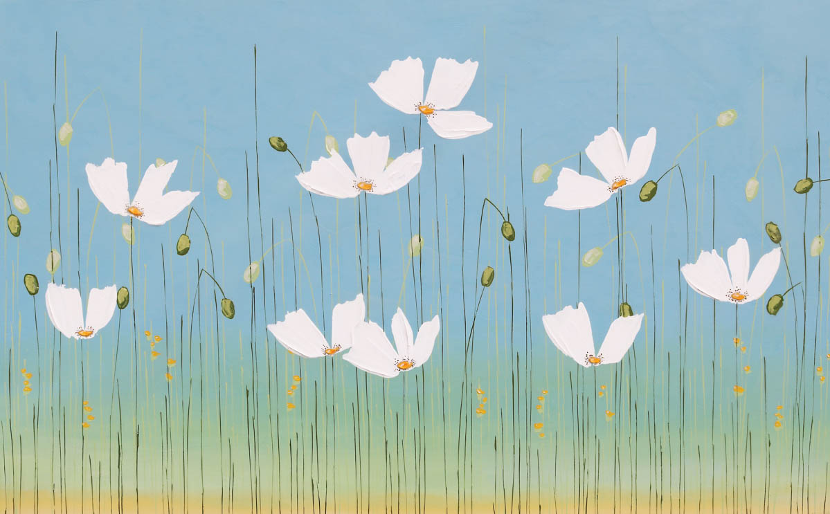 White Poppies. Sarah Faulkner, artist