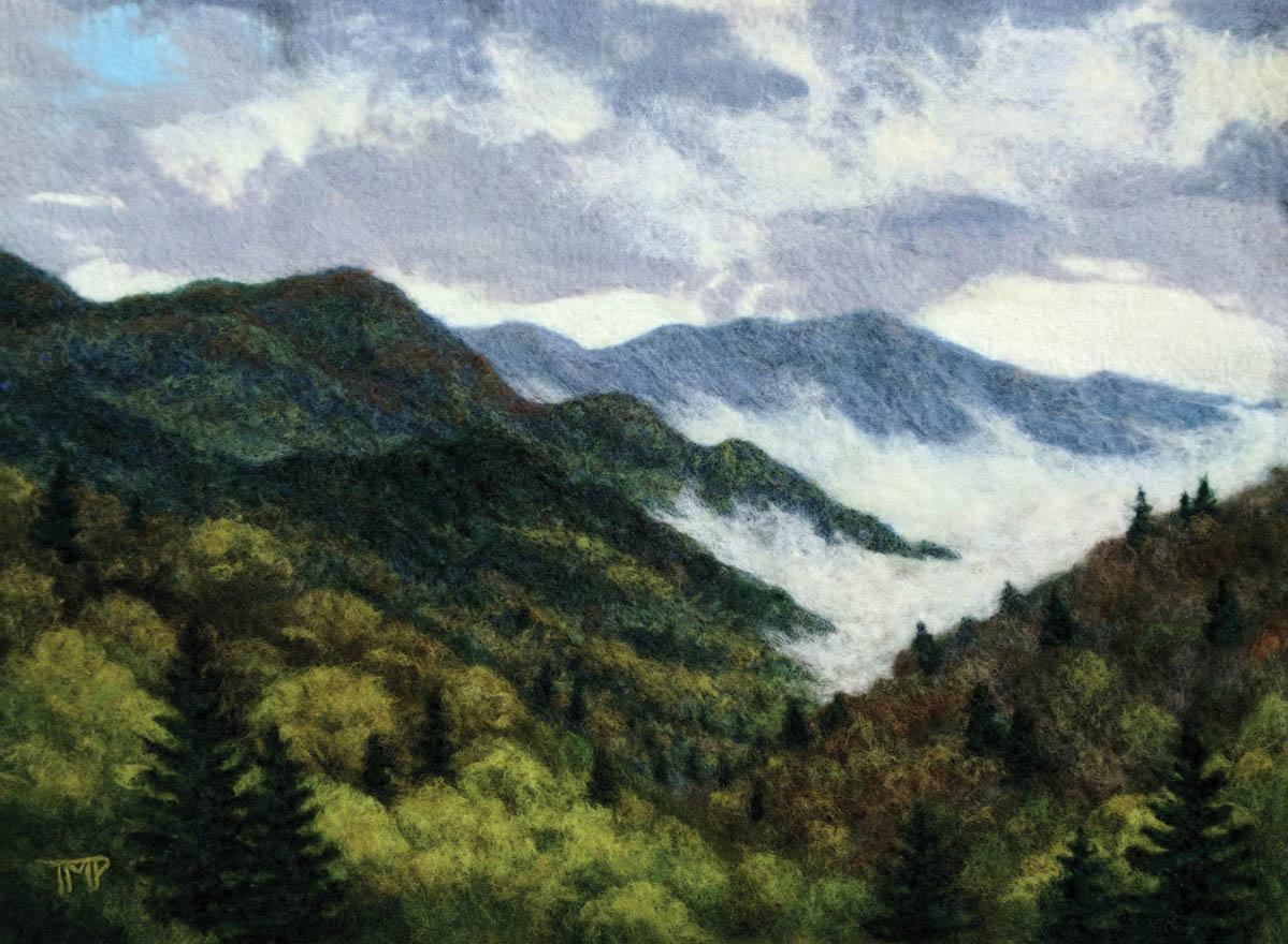 Cover-Artist Tracey McCracken Palmer Smoky Mountain Spring Greens Tracey McCracken Palmer-artist