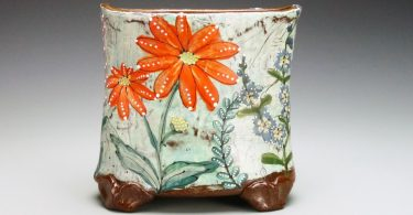 mica august summer flower vase