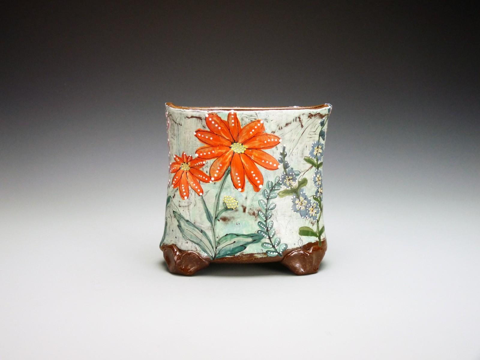 mica august summer flower vase