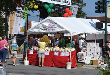 booth at apple festival