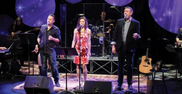 Photo by Scott Treadway of bee gees play at flat rock playhouse