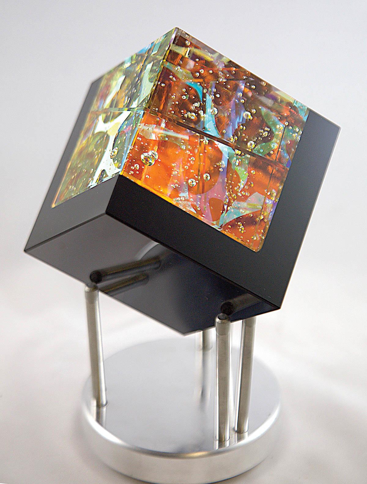 Fire Cube. Robert Stephan, artist