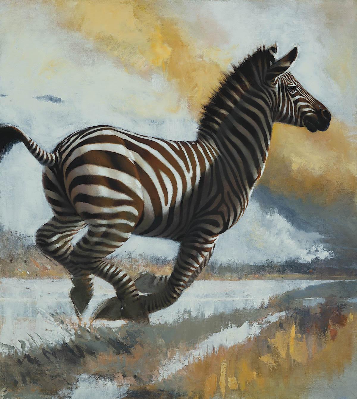 Striped Messenger. Veronica Hart, artist