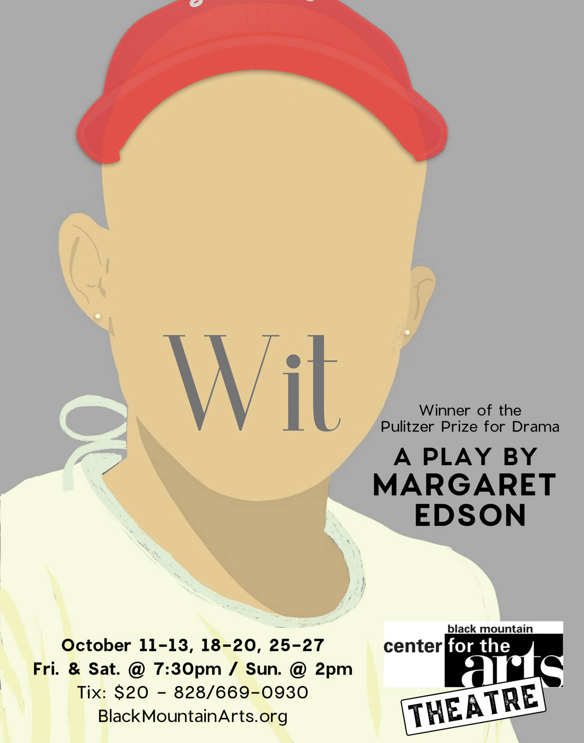 poster for BMCA play titled wit