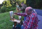 Richard Baker and John Geers Painting on the blue ridge parkway