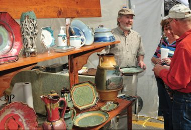 Terrance Painter, potter. Different Drummer Pottery