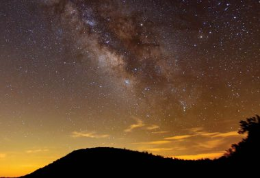 Milky Way over Blue Ridge Parkway, photo by club member Jerry Sherman at Mt. Pisgah Astronomy Club Star Gaze