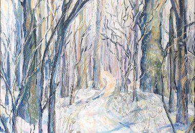 Snowy Biltmore Path in the Afternoon. Elizabeth Porritt Carrington