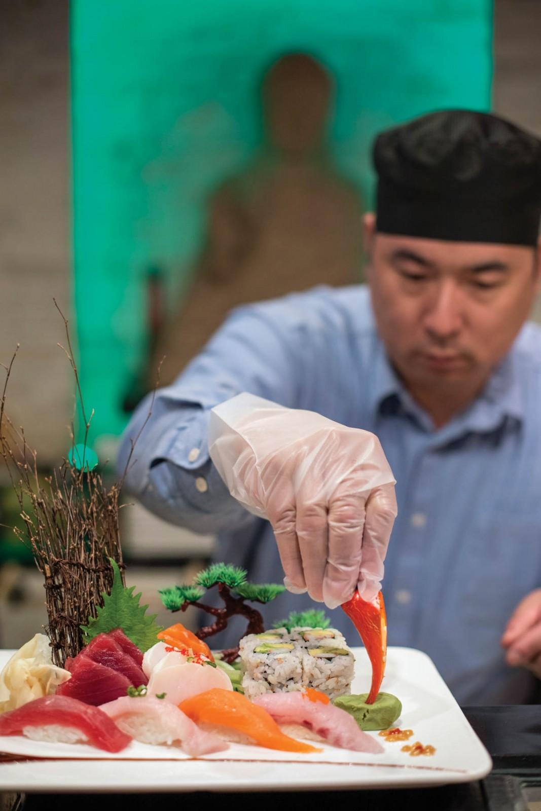 Green Tea Sushi Owner Tony Min Liu. Photo by Studio Misha Photography