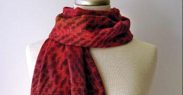 Handwoven Shibori Silk Scarf. Neal Howard, artist