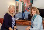 Artist Maureen Scullin and The Laurel's Pamela Pyms.