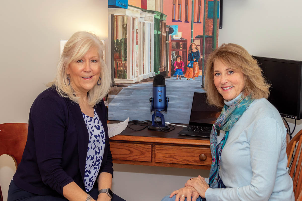Artist Maureen Scullin and The Laurel's Pamela Pyms.