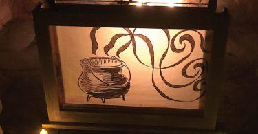 light box with design of cauldron