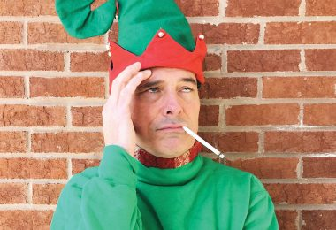 Crumpet the Elf played by David Broshar in The Santaland Diaries