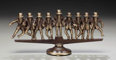 Bronze Menorah. Scott Nelles, artist