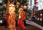 Carved Santas. Bill Apelian, artist