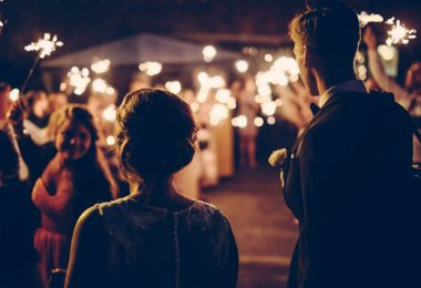 nightime wedding