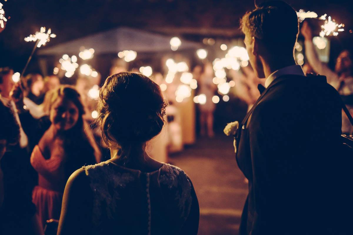 nightime wedding