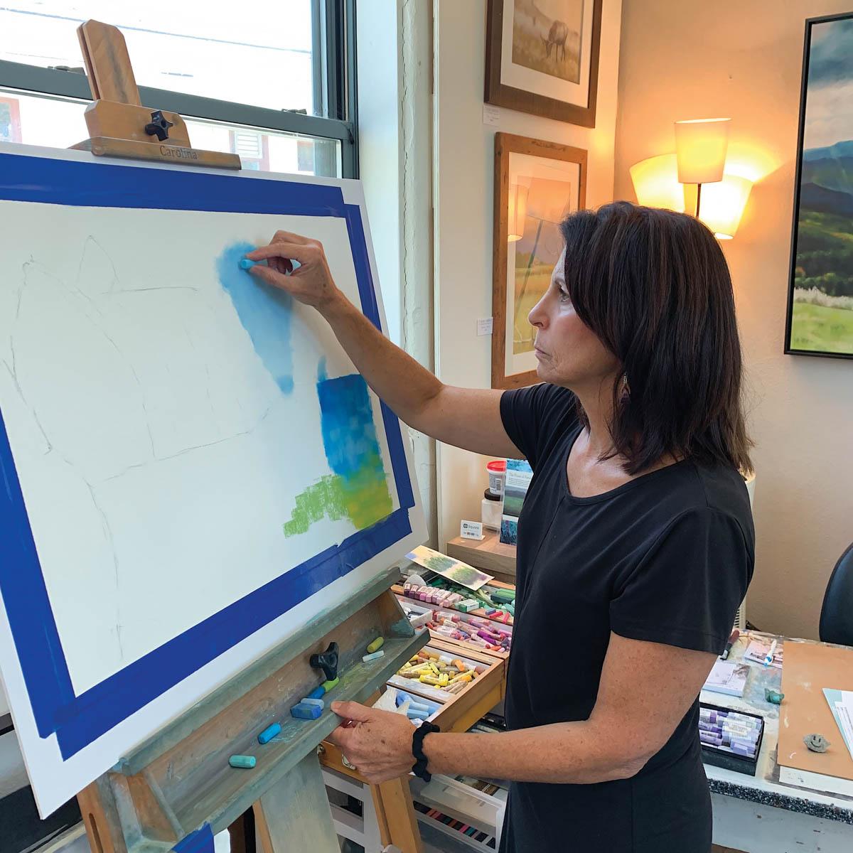 Elise Okrend in her studio