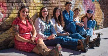 From left, Jane Kramer, Laura Blackley, Aubrey Eisenman, Quetzal Jordan, Tina Collins and Amanda Anne Platt. Photo by Stephan Pruitt Photography