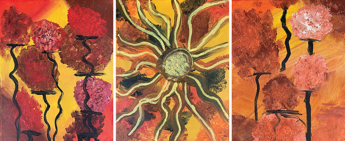 Blue Dharma Exhibits Work of Young Asheville Artist
