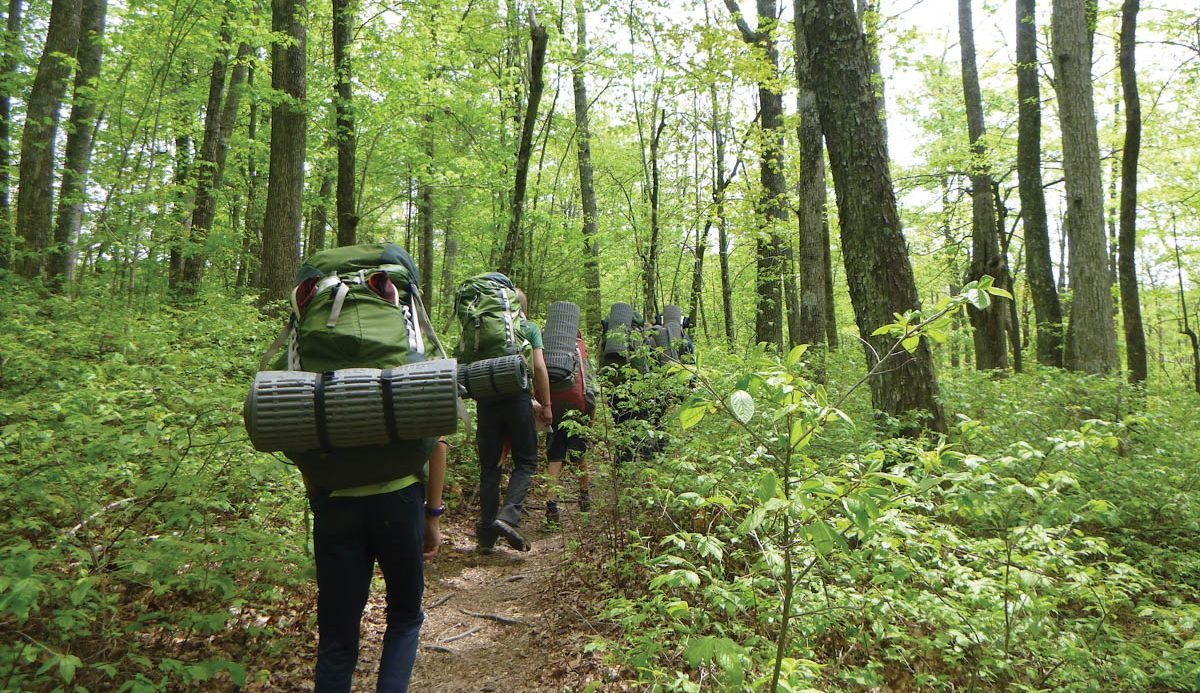 Outdoors: Evergreen Charter School Goes Backpacking